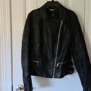 Jr's Imitation Leather Jacket